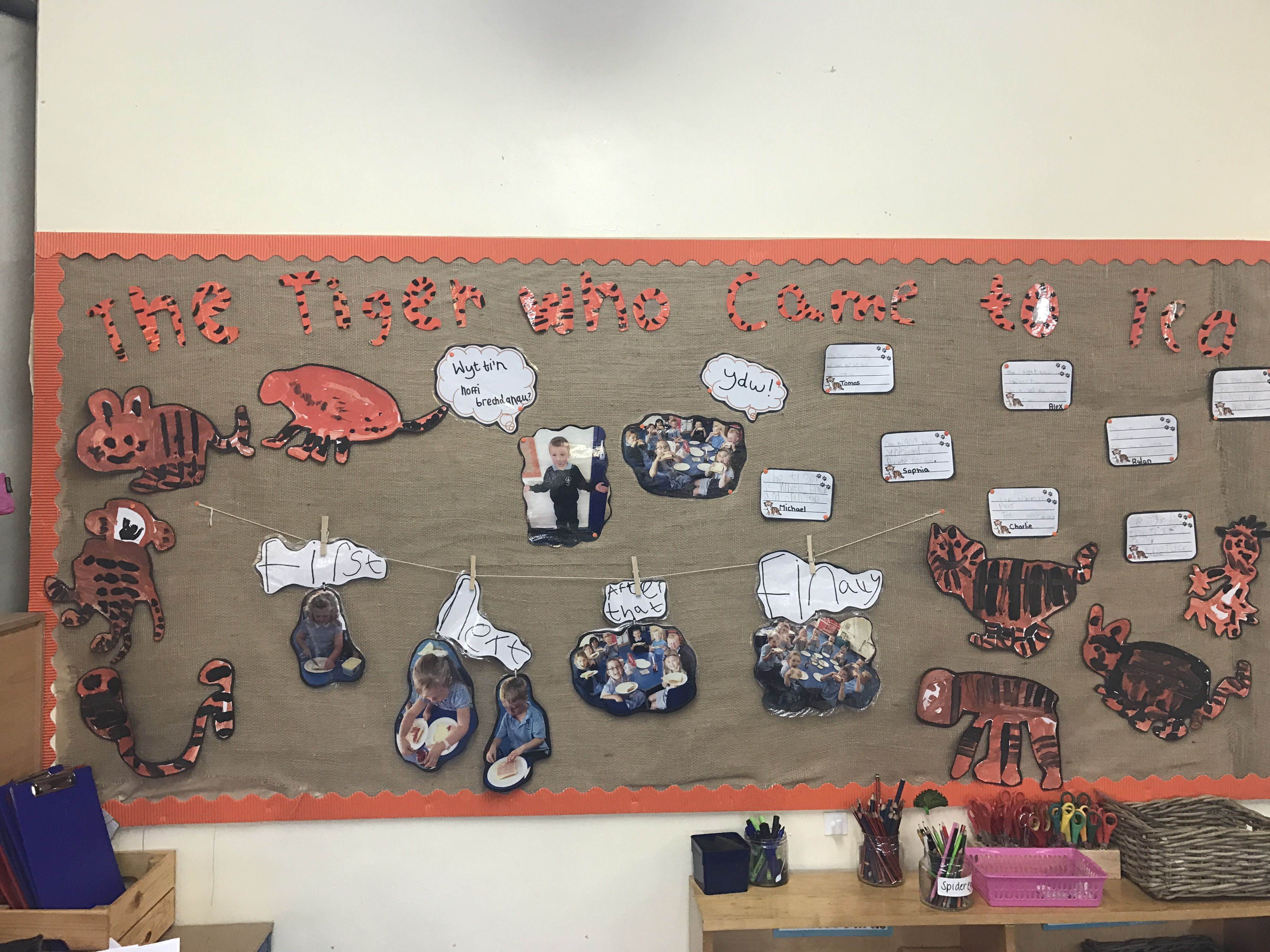 The Tiger Who Came To Tea Literacy Board