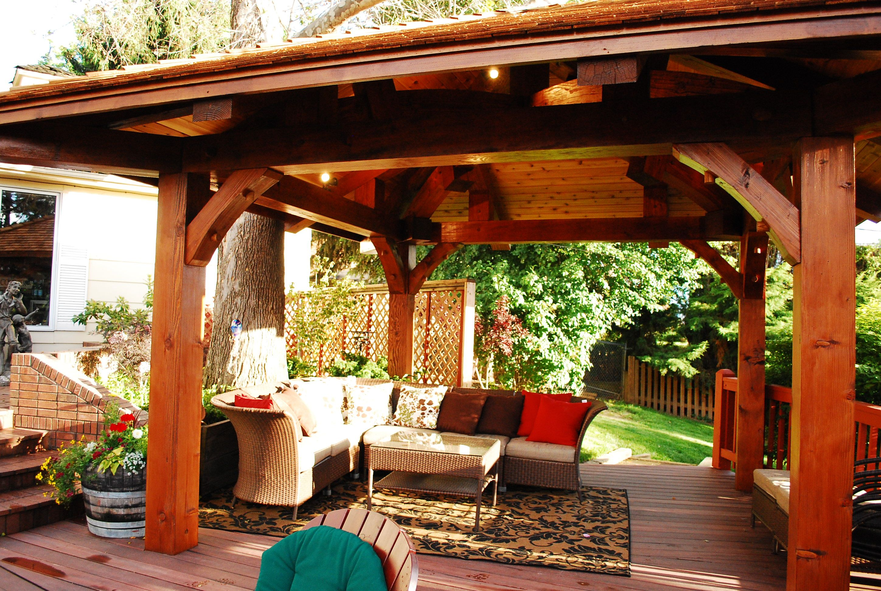 The log home floor plan blogtimberscape gazebos for Home shade structures