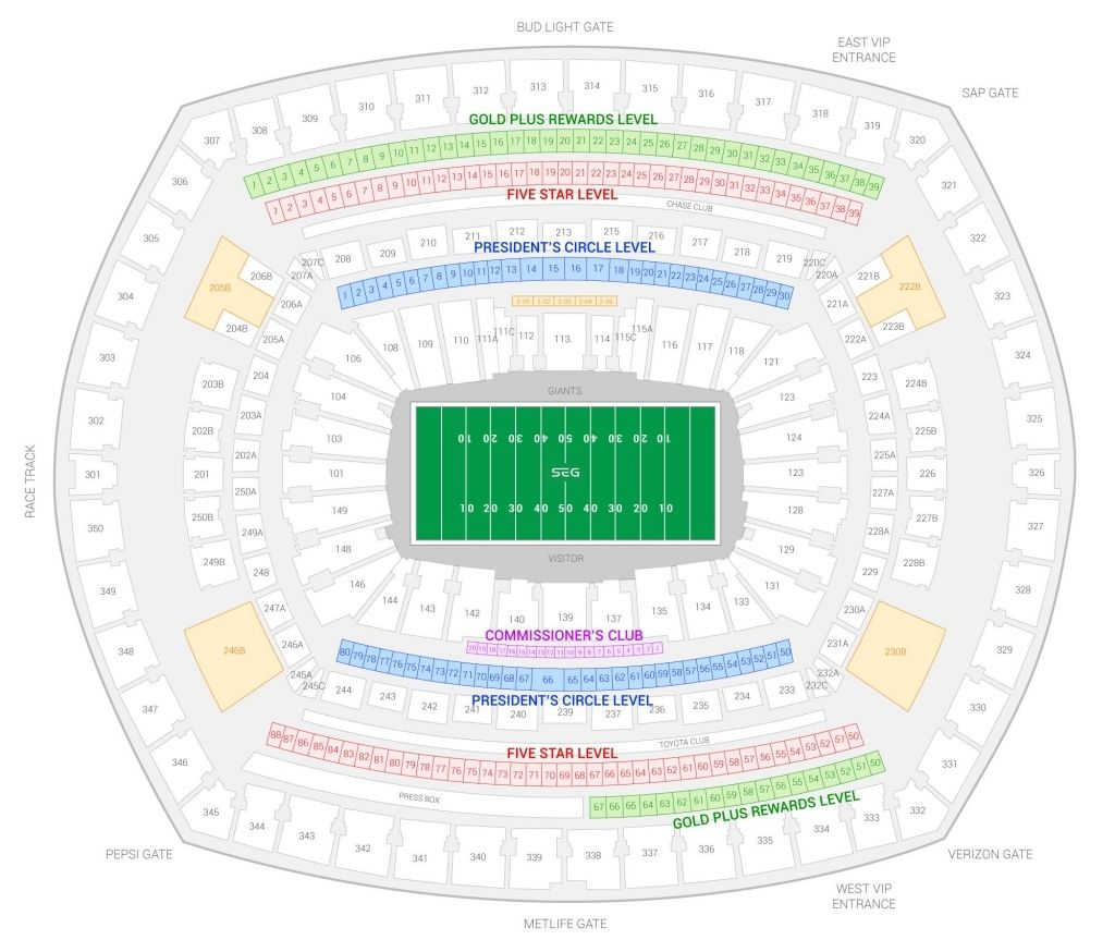 The Incredible And Beautiful Metlife Stadium Seating Chart Jets Di 2020