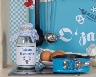 Küchenzubehör Kinderküche ~ Bastelvorlagen zum ausdrucken: frische alpenmilch kinderküche