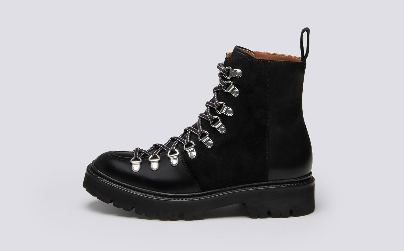 Nanette | Womens Hiker Boots in Black
