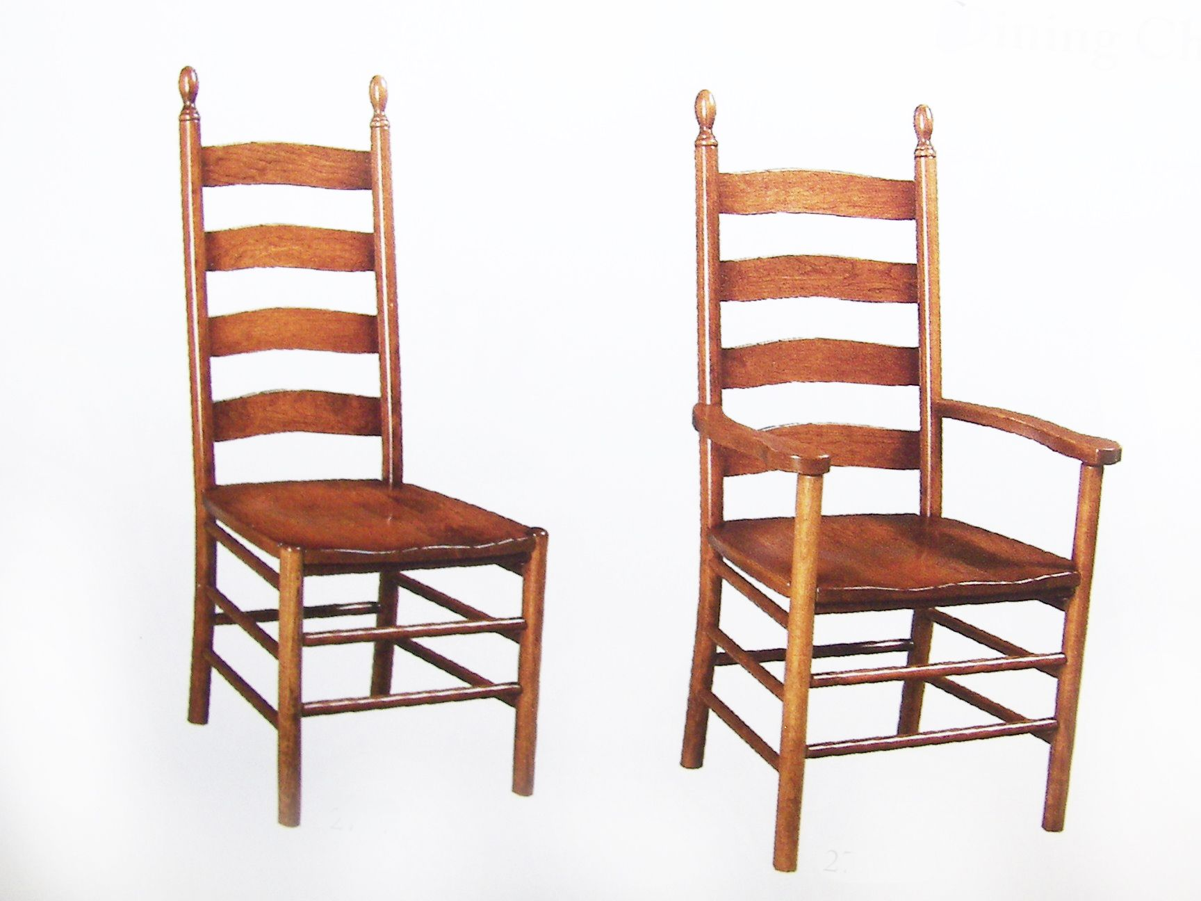 shaker ladder back solid hardwood chairs and benches oak maple