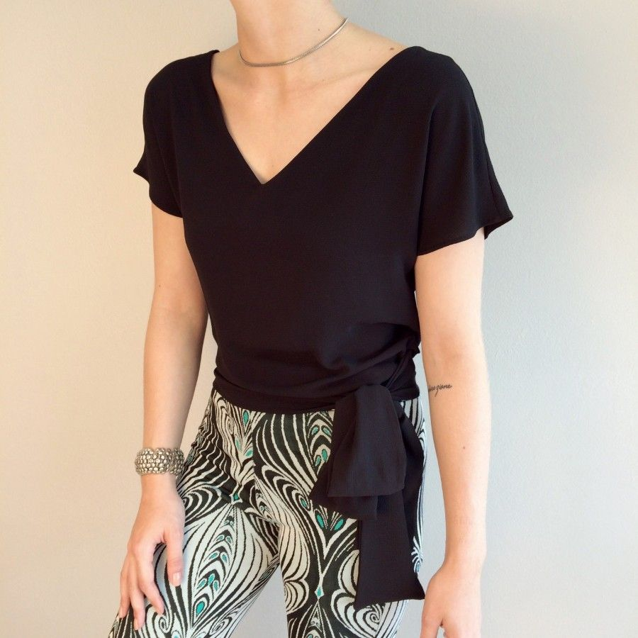 43cb73e6c4 blusa laço na cintura preta Vestidos De Bolinhas