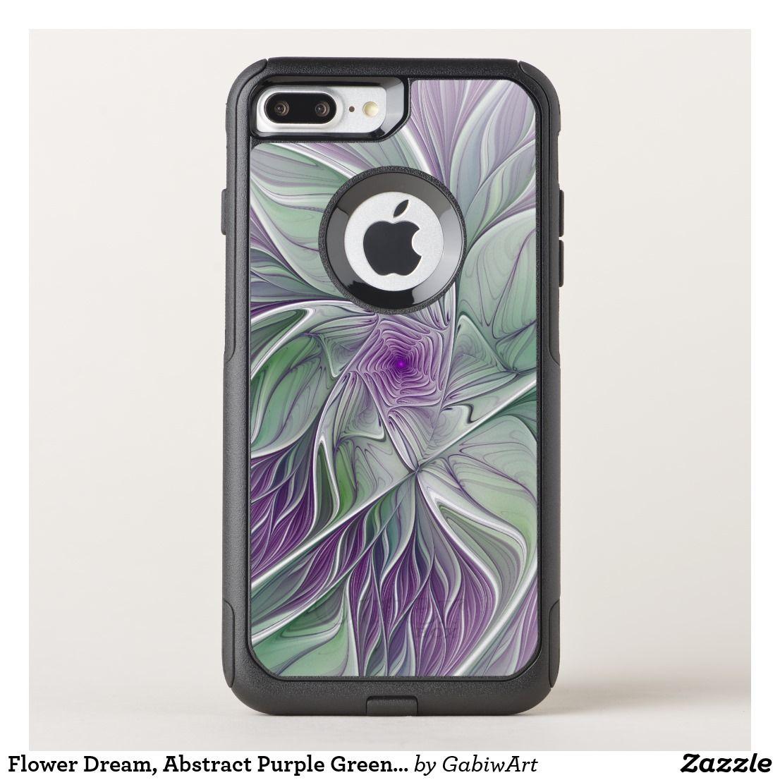 Flower dream abstract purple green fractal art otterbox