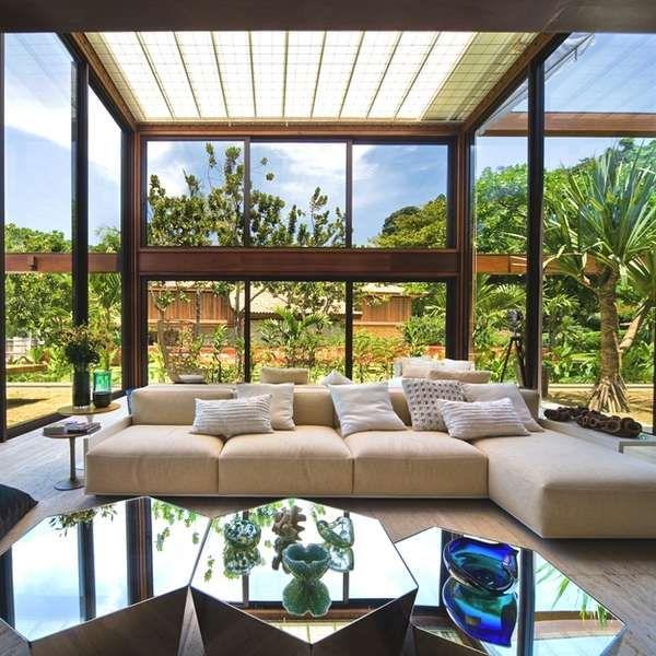 Forested Brazilian Villas - The Laranjeiras Residence is a Gated Masterpiece in Rio de Janeiro (GALLERY)