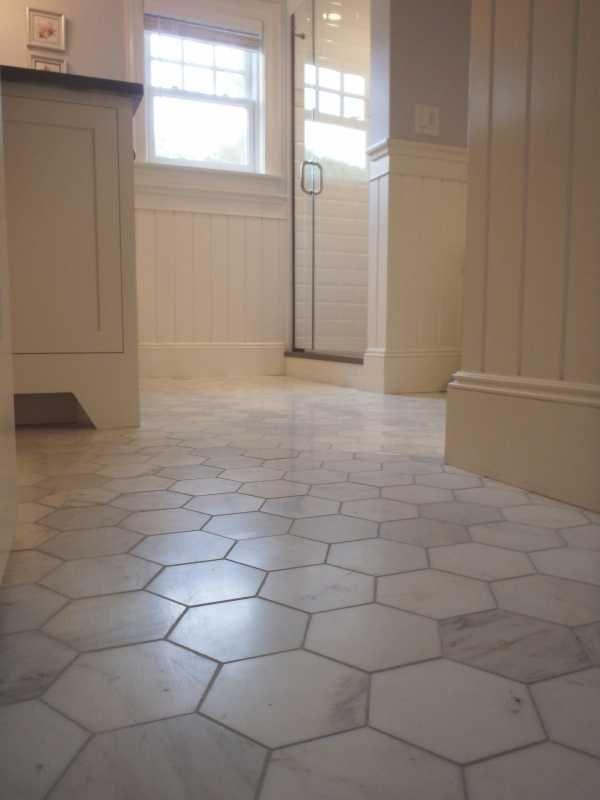 Bathrooms With Hexagon Carrara Marble Tile Floor   Bing Images Part 40