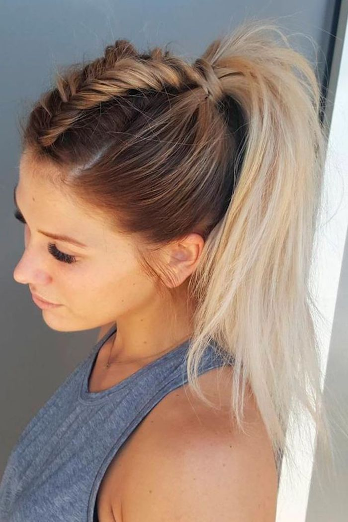 ▷ Trendige Frisuren - mоderne Haarfarben und Haarschnitte #ponytailhairstyles