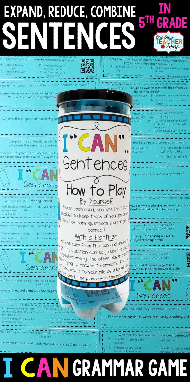 5th grade grammar game expanding reducing combining 5th grade grammar game expanding reducing combining sentences sciox Images
