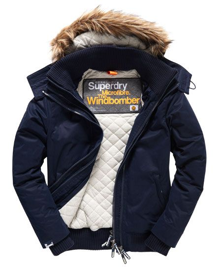 factory price 395a0 88598 Superdry Microfibre Fur Hooded Windbomber Jacke | Christian ...