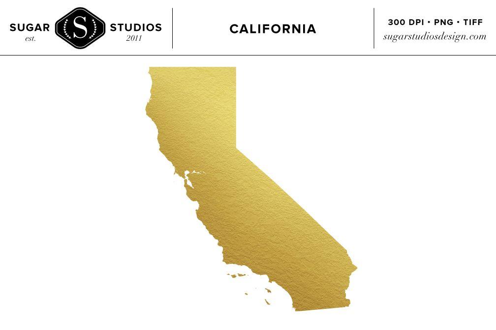 California State Gold Foil Clip Art Clip Art Custom Design Photo Overlays