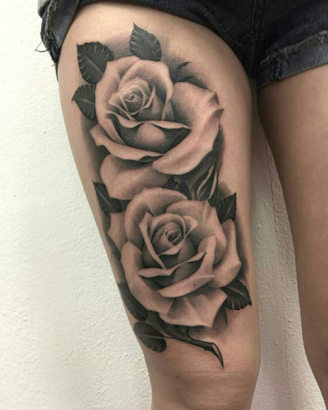 Realistic Single Rose Tattoo: Cute But Would Look Better On Forearm.roses Would Be