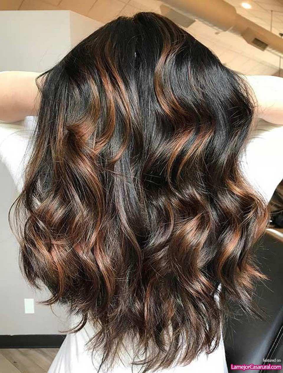 Awesome Caramel Highlights On Jet Black Hair Hair Highlights Black Hair With Highlights Caramel Highlights
