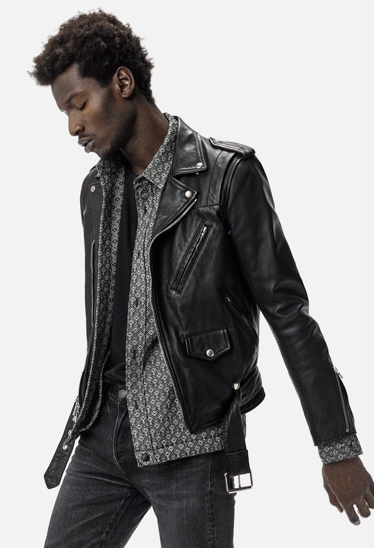 John Elliott X Blackmeans Rider S Jacket Black John Elliott Riders Jacket Leather Jacket Men Style Jackets [ 1440 x 984 Pixel ]