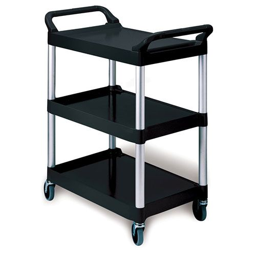Rubbermaid FG342488   Kitchen Utility Cart, 3 Shelves, 200 Lb. Capacity