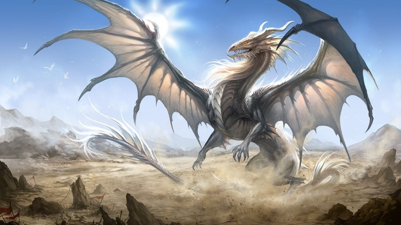 White Dragon Wallpaper Widescreen