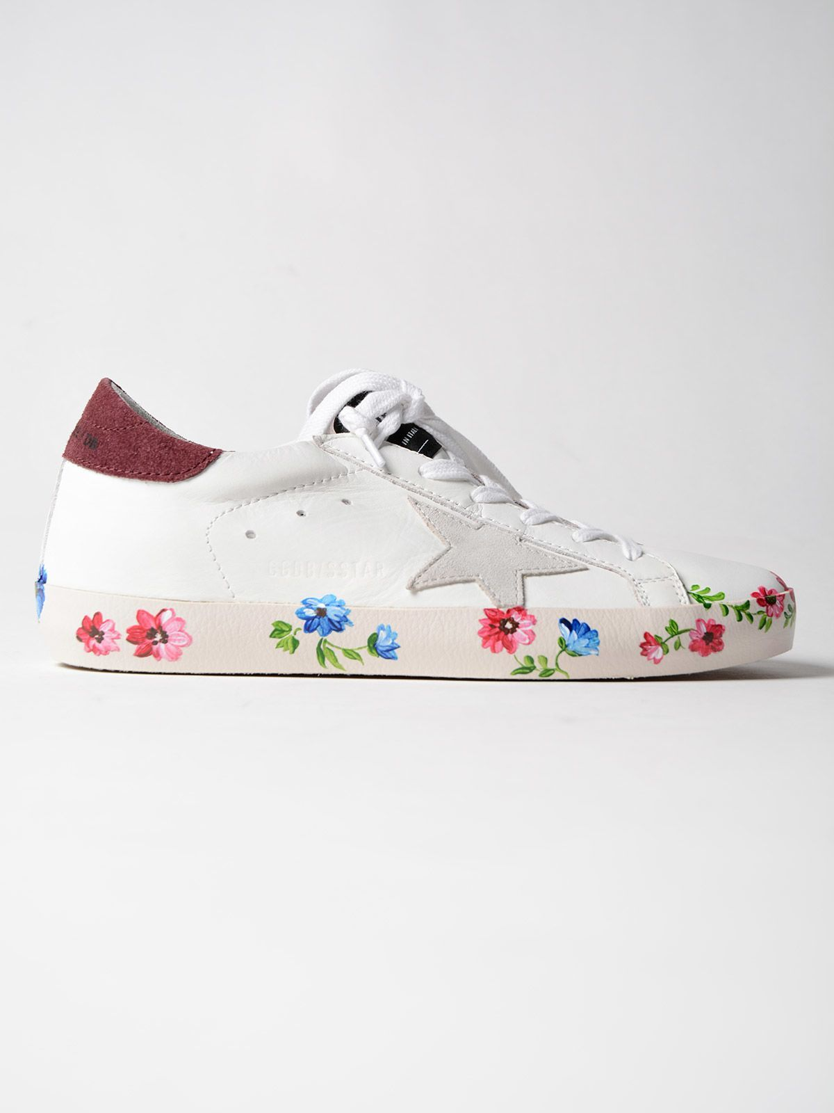 Golden Goose Sneakers Superstar Baux Hand Painted Sole Goldengoose Shoes