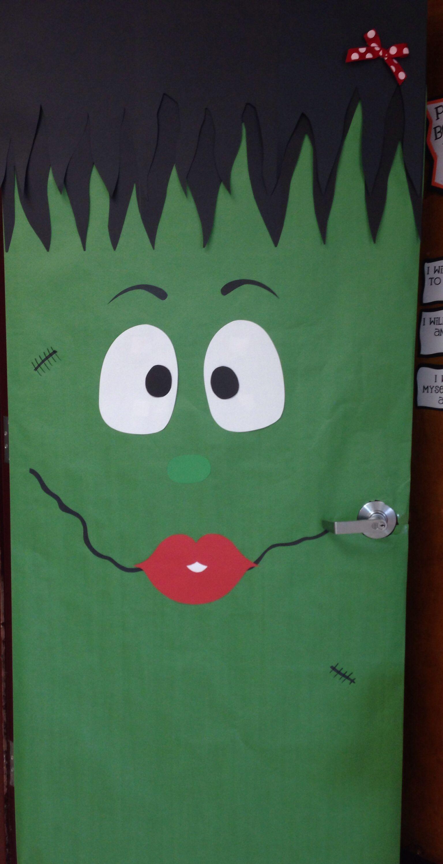 My girly Frankenstein door! & My girly Frankenstein door! | Halloween | Pinterest | Frankenstein
