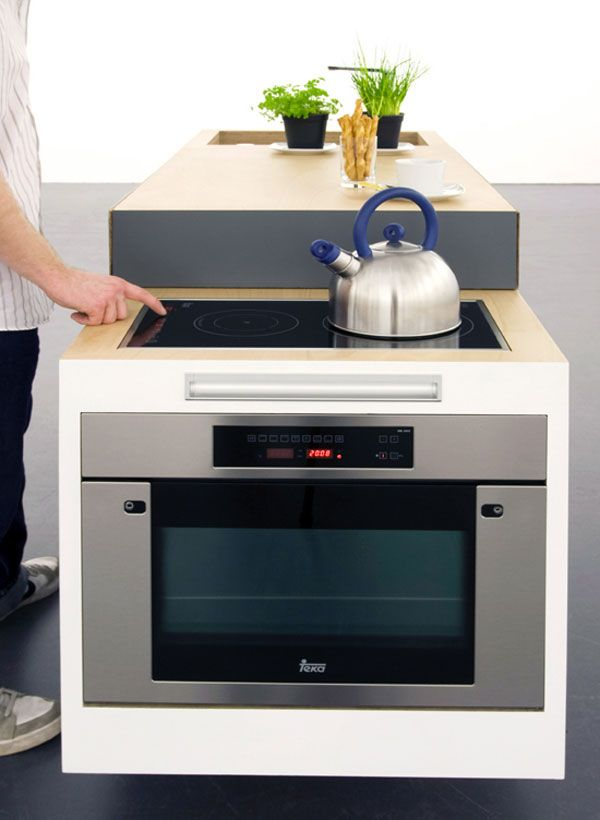 Very Clever Compact Kitchen For Small Apartments Freshome Com Design Apartment Stove