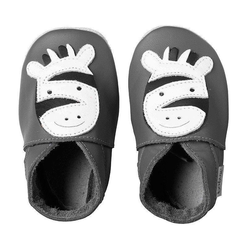 Zdjecie Produktu Dark Zebra Grey Kid Shoes Toddler Shoes Baby Shoes