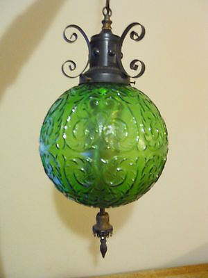 Details About Vintage Retro Mid Century Green Glass