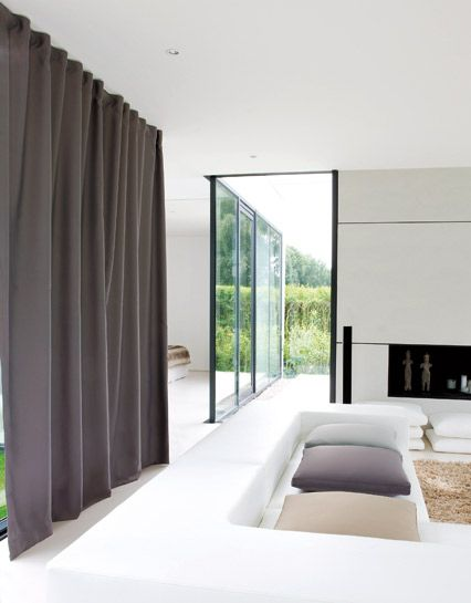 Inspiratie woonkamer modern living room woonkamer for Gordijnen modern