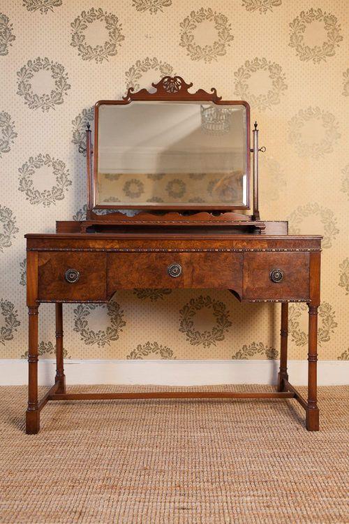Genial Antique Dressing Table 1930 | 1930s Quality Walnut Dressing Table U0026 Mirror.  Provenance Waring .