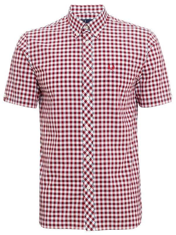 5b96bdcbb Fred Perry Short Sleeved Gingham Shirt   Men's Fashion that's not ...