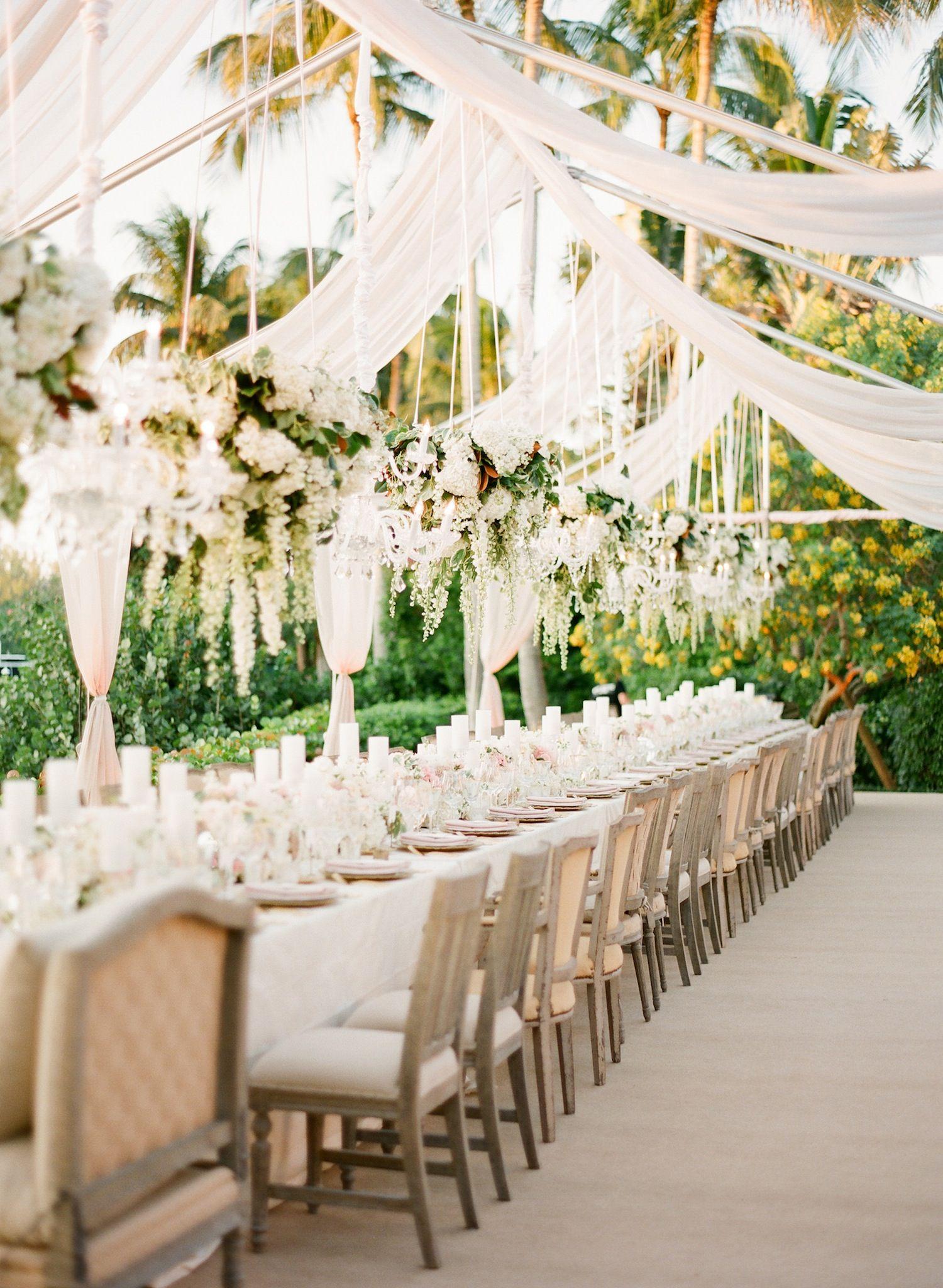 A Gorgeous and Elegant Outdoor Florida Wedding | Merry, Reception ...