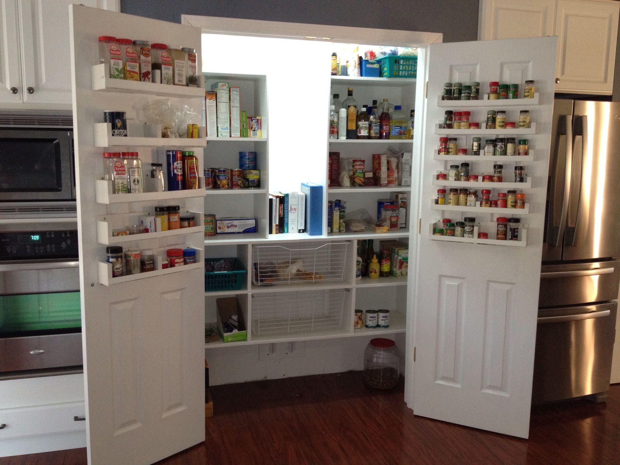 My Custom Pantry And Spice Racks Designed By Hubby Remodel Pinterest C