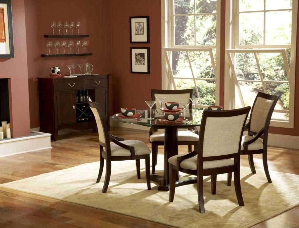 Mauve-Wall-Color-with-Stylish-Dining-Table-Decoration-for ...