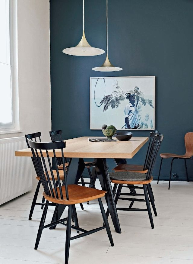 PETROL Blau Als Wandfarbe. #KOLORAT #Wandgestaltung #Wandfarbe #Blau #Grün # Petrol #Interior #Wohnideen #Esszimmer
