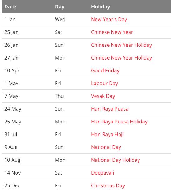 Free Blank Printable Singapore Public Holidays 2020 ...