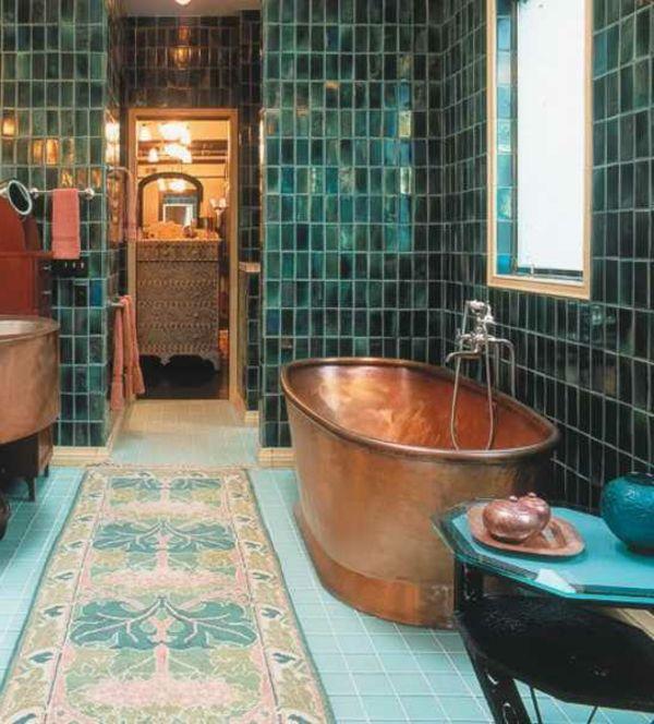 1000 ideas about baignoire sabot on pinterest small bathtub tubs and salle de bain - Salle De Bain Turquoise Et Bois