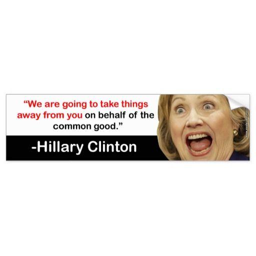 Hillary Clinton Takes Things Bumper Sticker (B&W) #crookedhillary #neverhillary