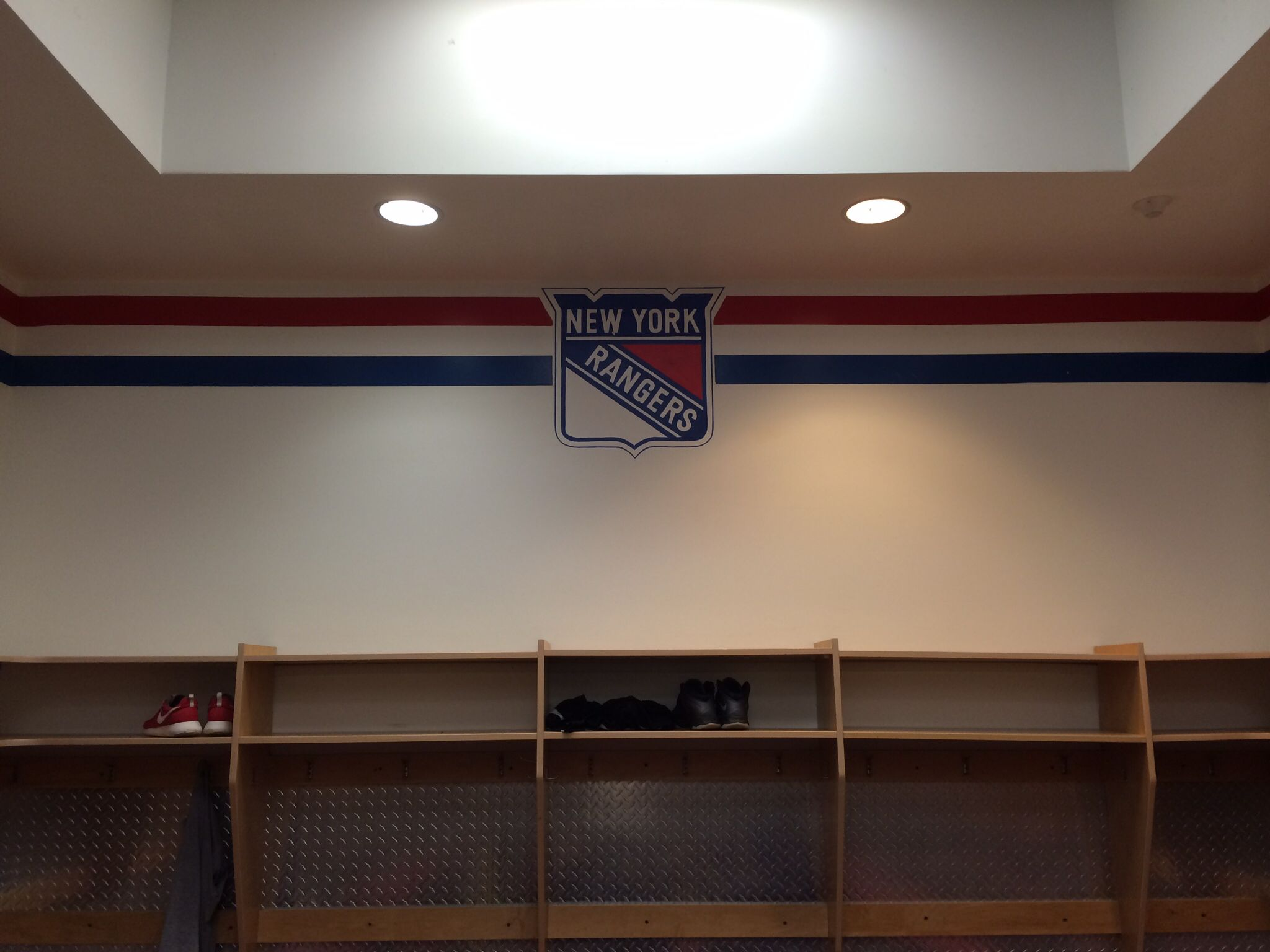 rangers locker room at the rinks of shelton hockey nyr