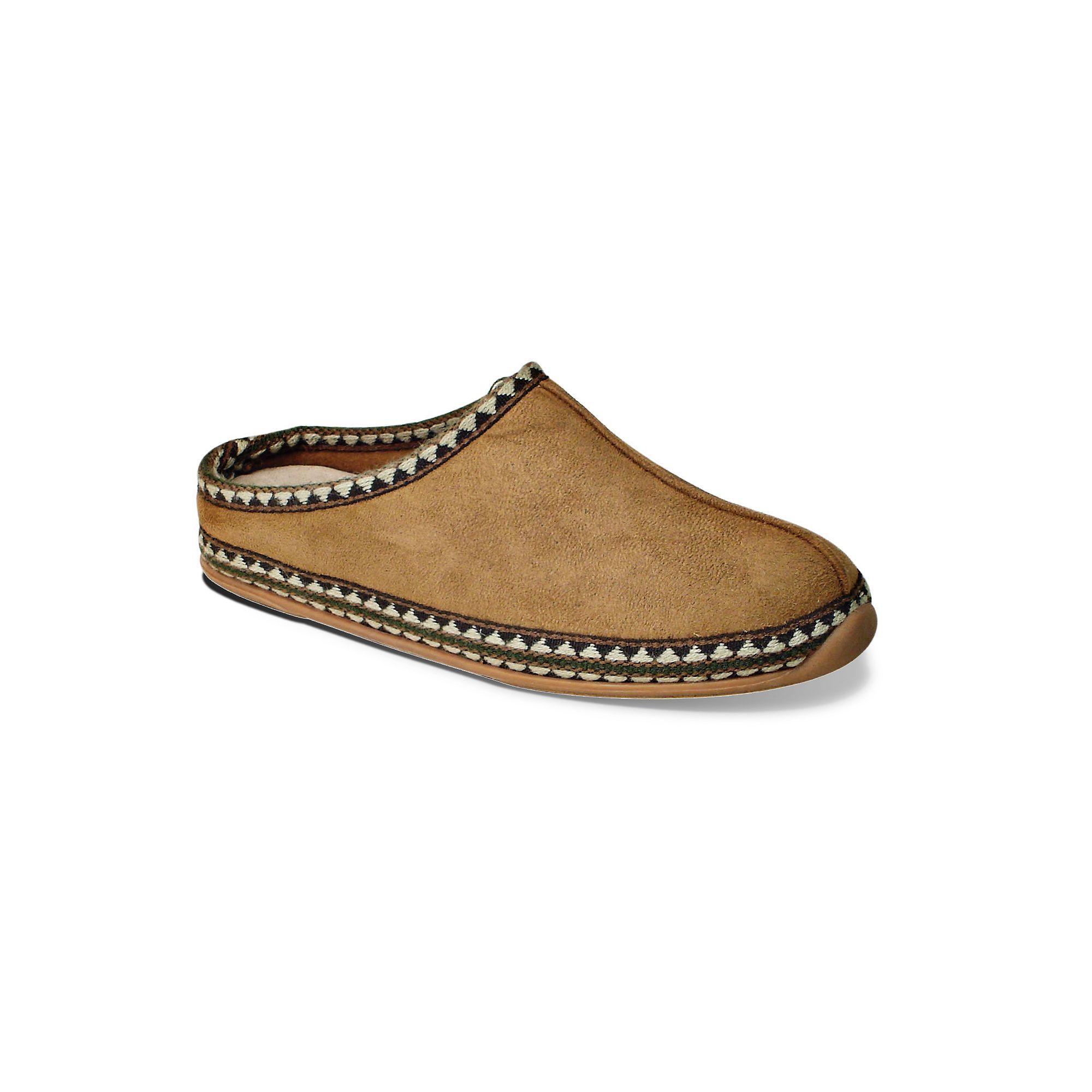 Deer Stags Slipperooz Wherever Men's Clog Slippers, Size: 15 Wide,  Beig/Green