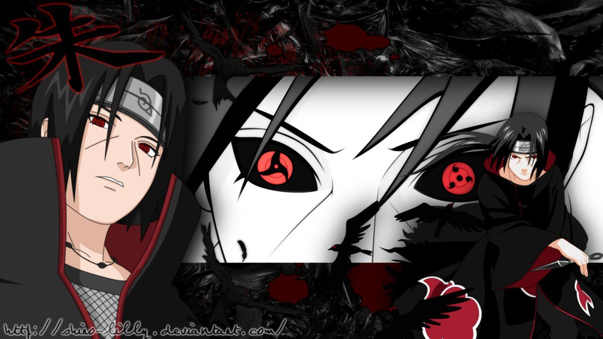 Uchiha Itachi With Crows Background By Shiro Lilly Deviantart Com
