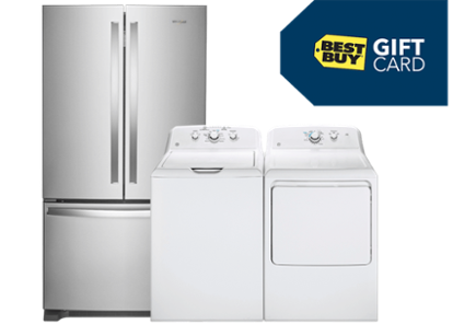 Refrigerator, washer, dryer and gift card | My Choice