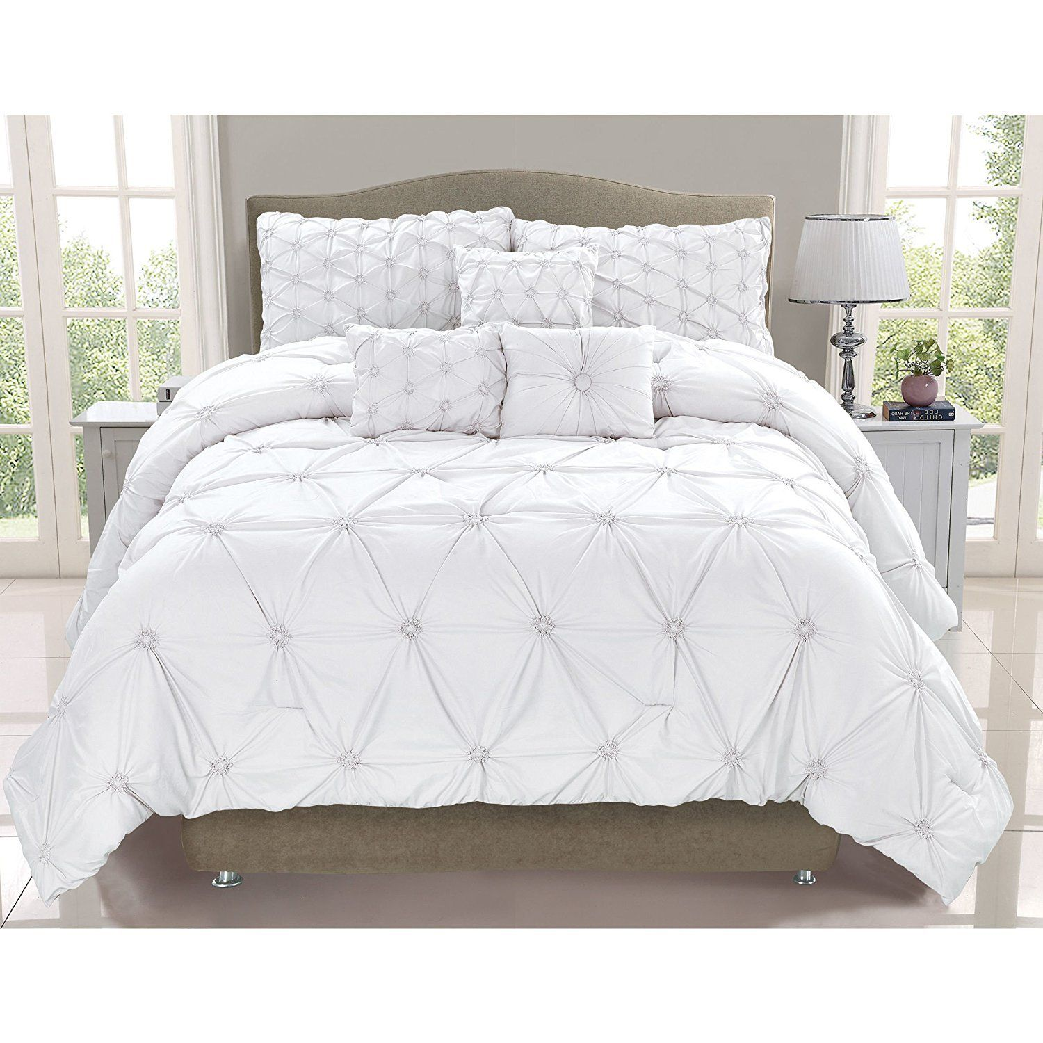 madison vivian comforter solid overstock park set pin piece polyester tufted shopping