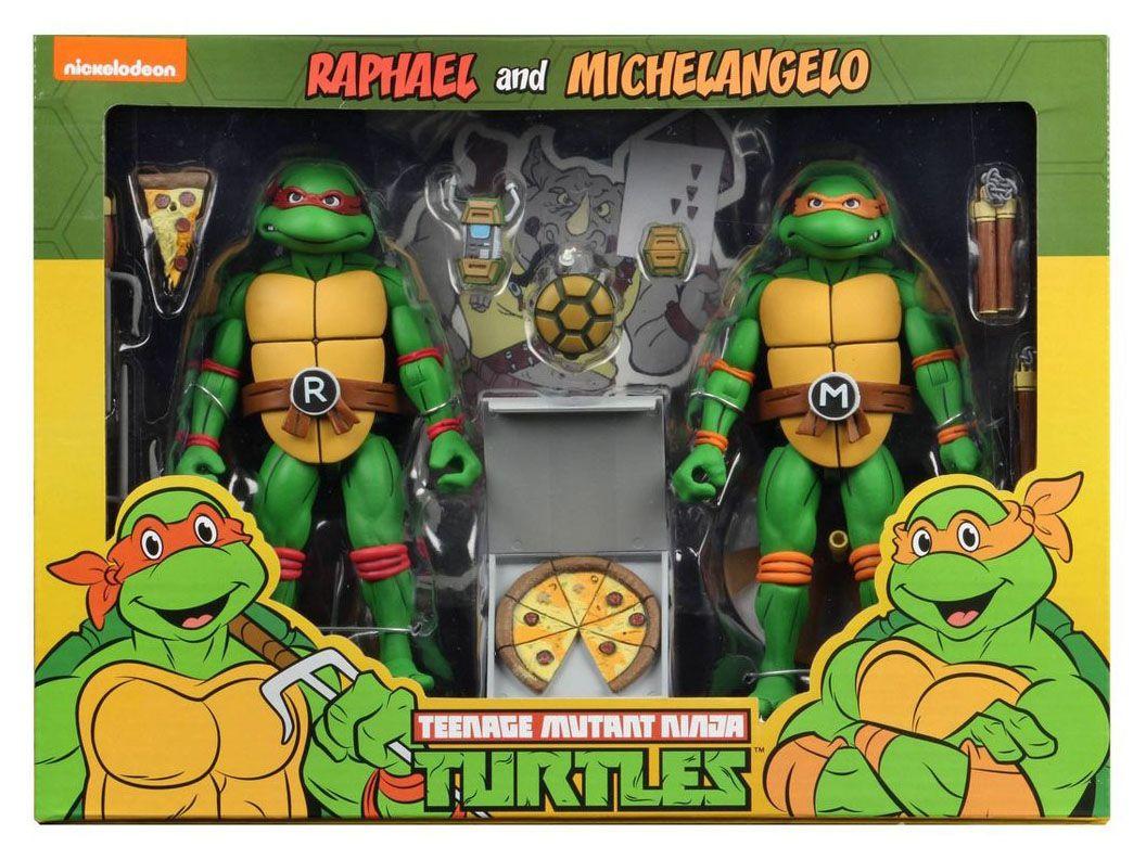 Raphael And Michelangelo In 2021 Ninja Turtles Cartoon Ninja Turtles Teenage Mutant Ninja Turtles