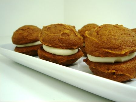 Pumpkin Whoopie Pies - I've been wanting to make these for ages.
