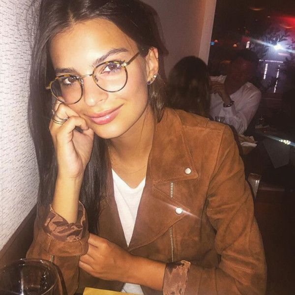 ce390a5e57 Emily Ratajkowski looking geeky-chic in thin