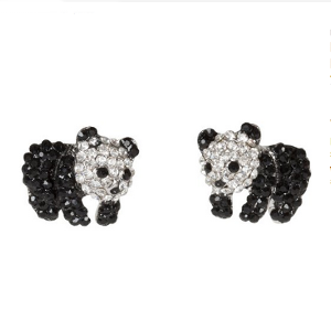 Crystal Panda Bear Stud Earrings 14 99these Adorable Baby Bears Are Adorned With Beautiful Black And Clear Crystals