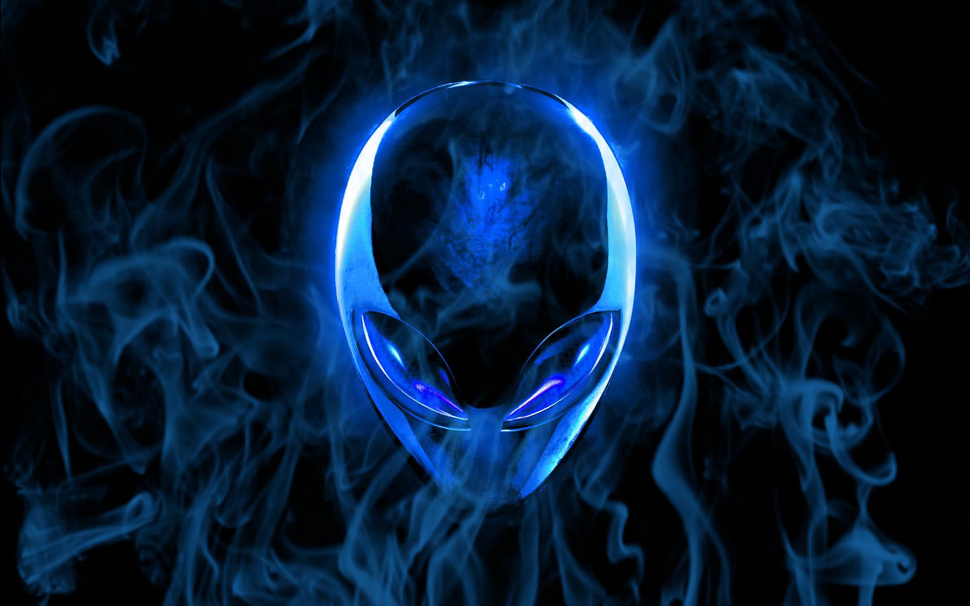 Alienware Desktop Background Blue Flaming Alienware Head 1920x1200 Alienware Desktop Wallpaper Backgrounds Backgrounds Desktop
