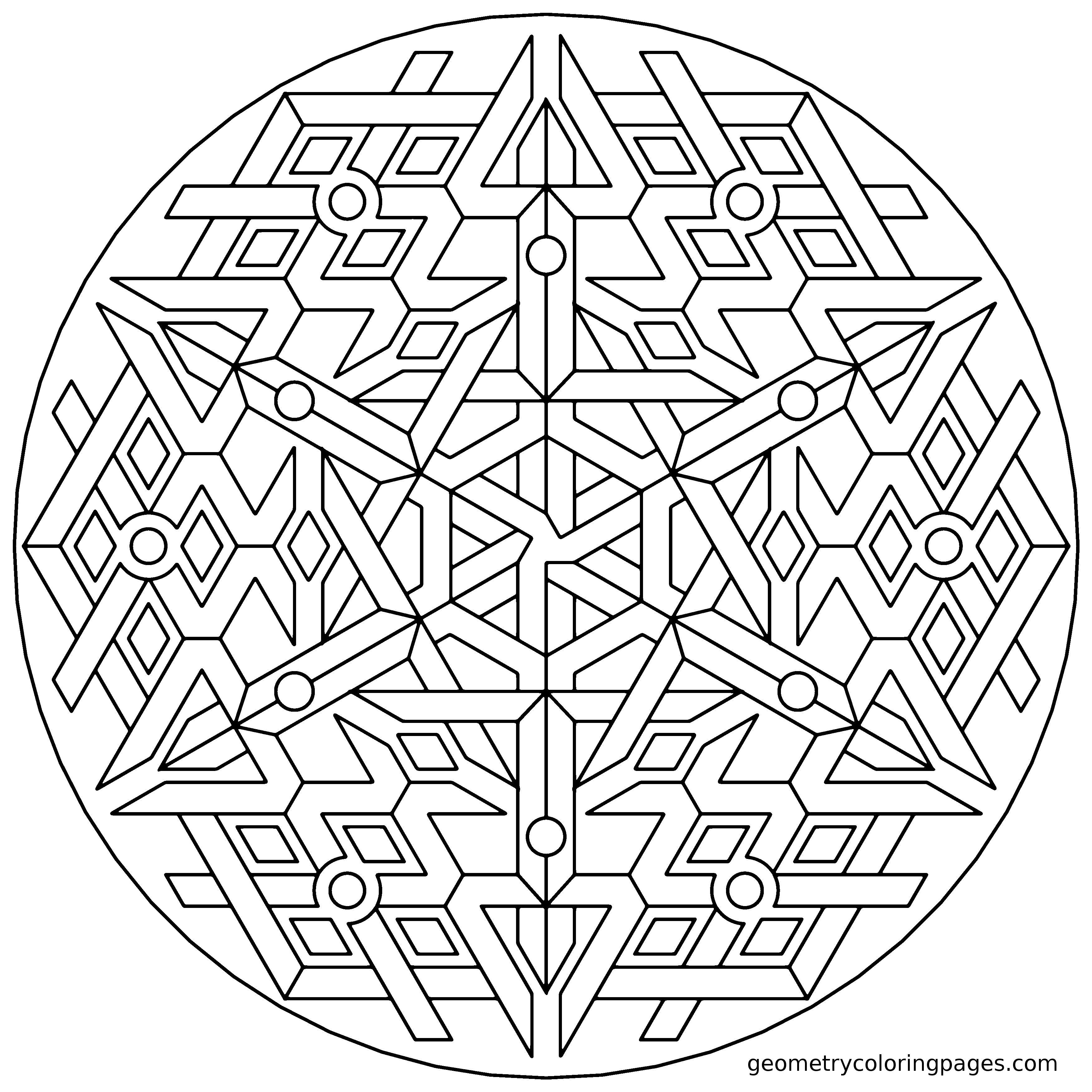 Triplex | coloring | Pinterest | Mandala para colorear, Mandalas y ...
