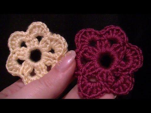 Blume Häkeln Einfach Und Schnell 5 Blätter 3d Blume Youtube