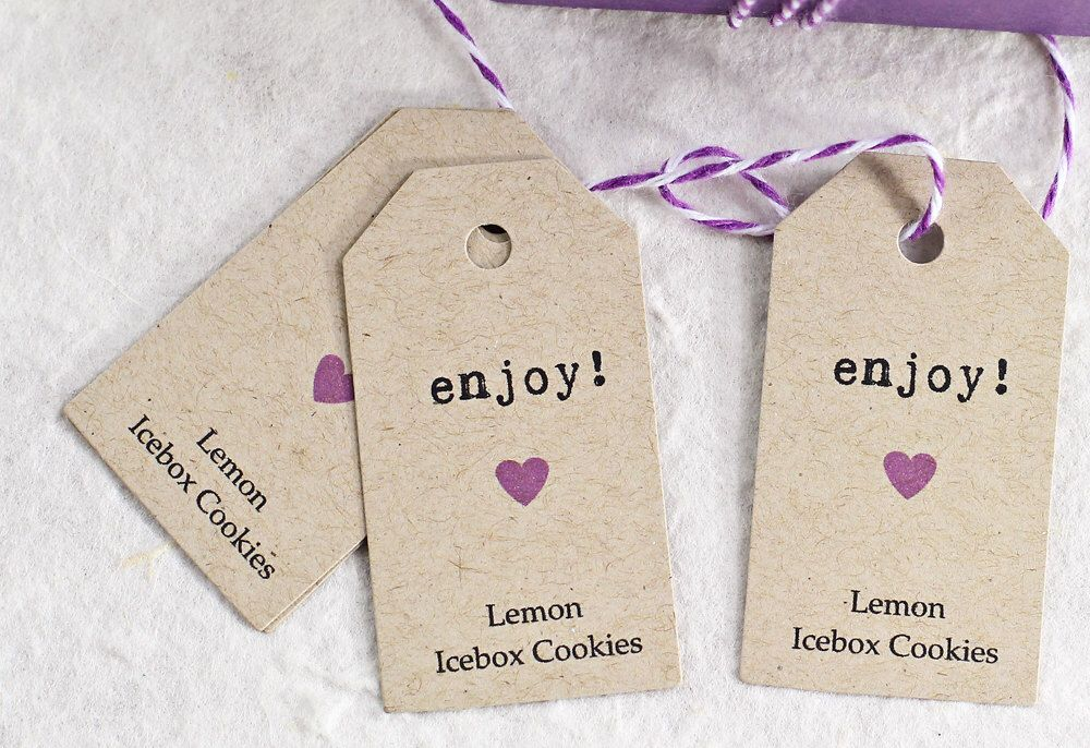 Enjoy Wedding Favor Tags Personalized Gift Thank You Bridal Shower