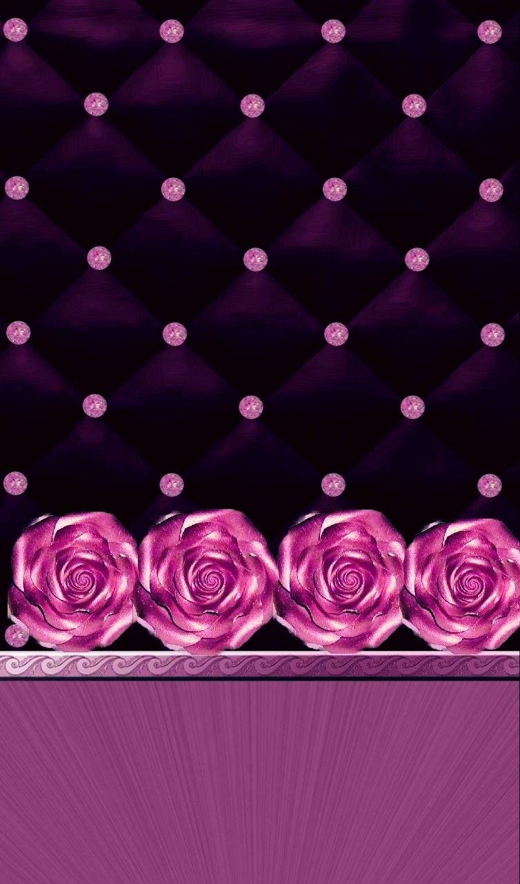 Black Pink Roses Wallpaper By Artist Unknown Cellphone