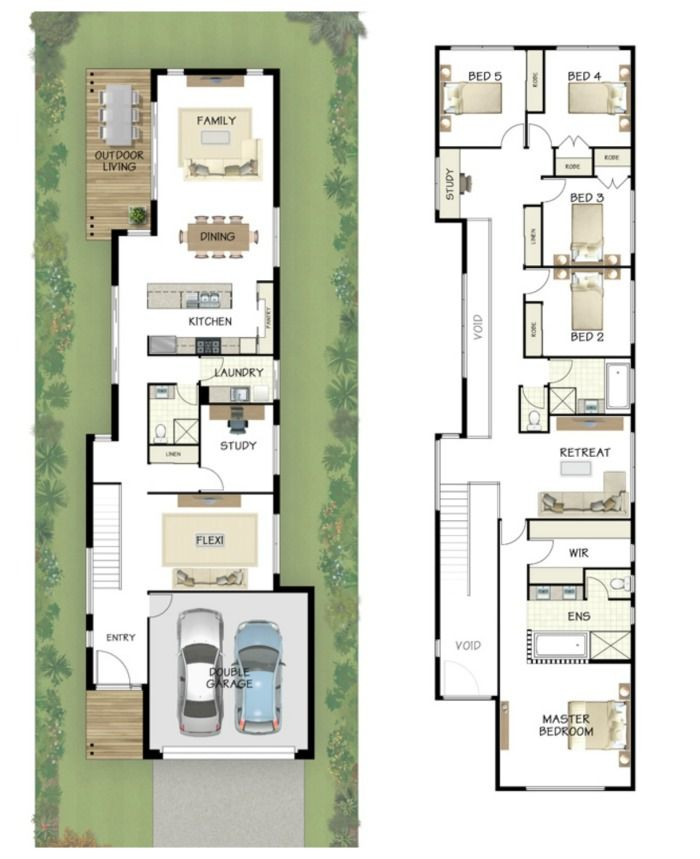 Image result for best narrow home designs