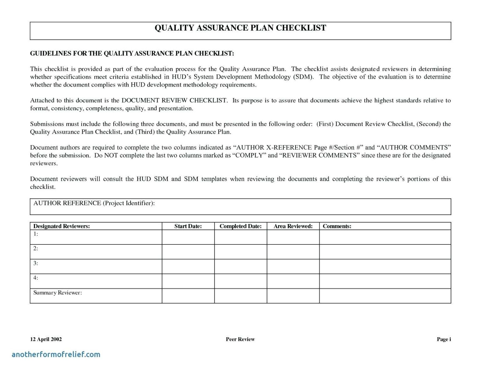 Quality Assurance Report Template Archives Free Resume